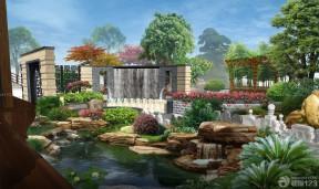 最新假山鱼池装修图欣赏