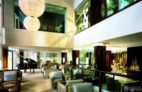 酒店餐厅大厅吊灯装修图