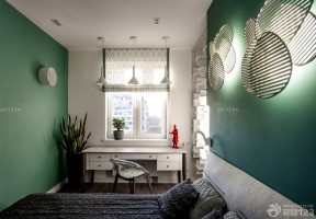 时尚60平米小房间绿色墙面装修效果图