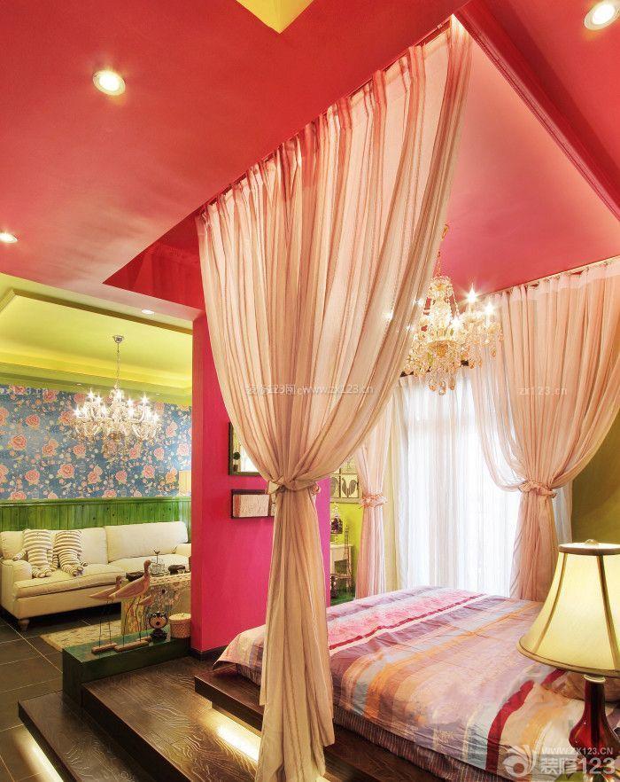 时尚绚丽美式田园风格60平米小房间装修效果图