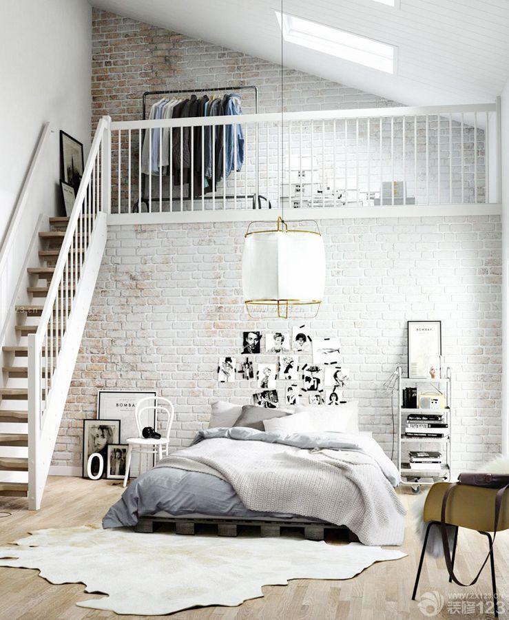 100平方带阁楼栏杆扶手装修效果图片