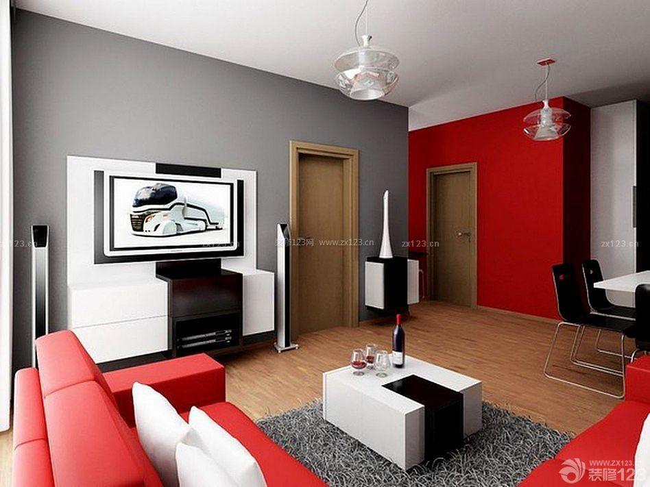 现代风格120平米家装颜色搭配设计效果图