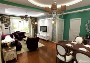 美式田园混搭120平米三室两厅装修图欣赏