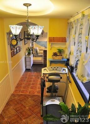 50平米家装黄色墙面装修效果图
