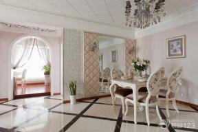 欧式80平米室内装修餐厅图片
