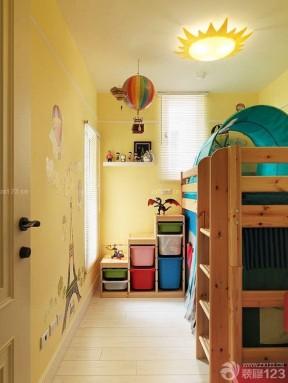 2020最新儿童房黄色墙面装修样板间效果图