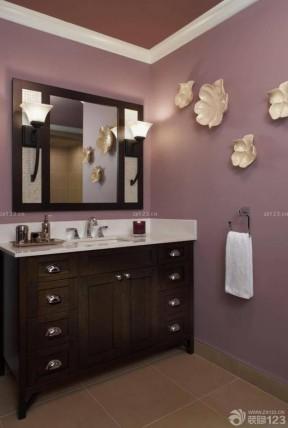 简约卫生间紫色墙面装修效果图大全