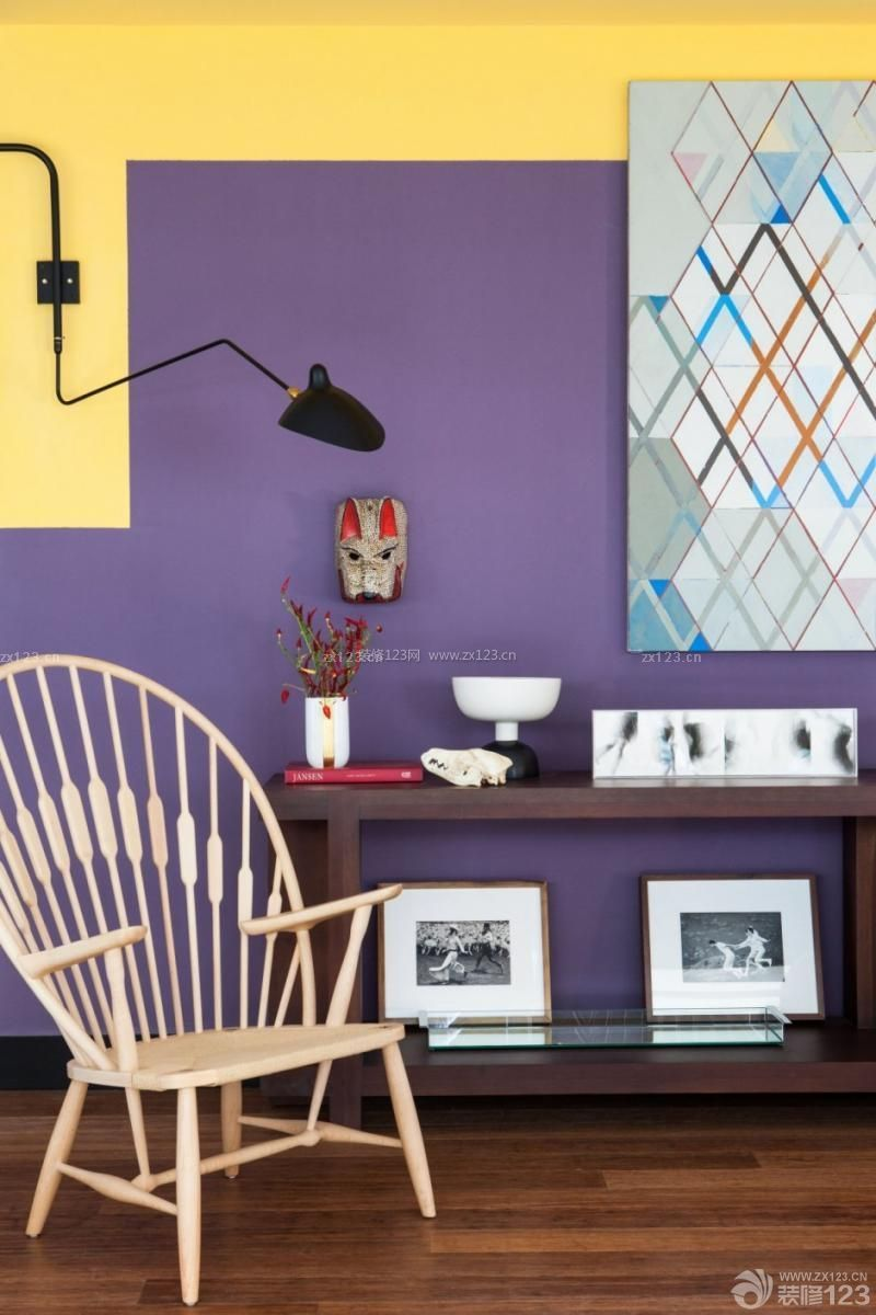 简约家装紫色墙面装修效果图片