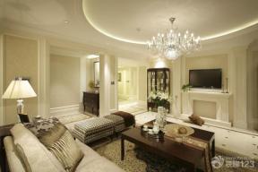 欧式风格最新客厅电视背景墙装修设计效果图