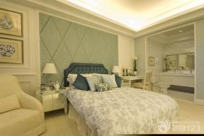 现代简约风格卧室设计背景墙软包装修效果图