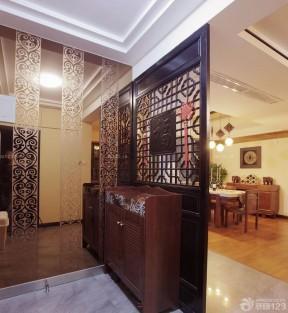 豪华中式鞋柜屏风装修图片