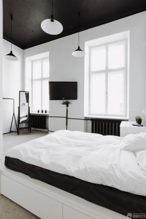 黑白时尚风格120平米装修效果图8万欣赏