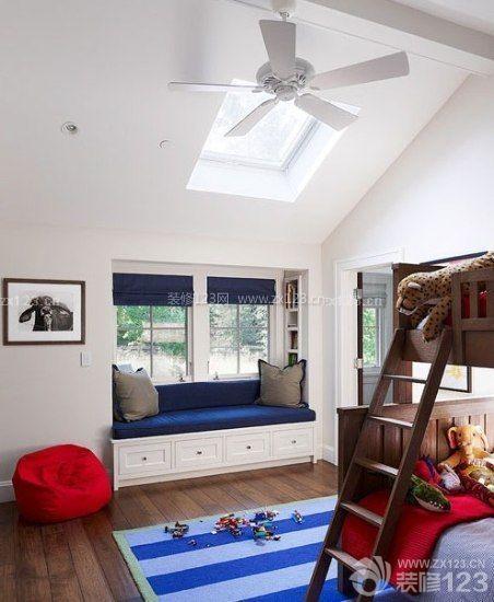 简约风格小户型斜顶阁楼装修实景图欣赏