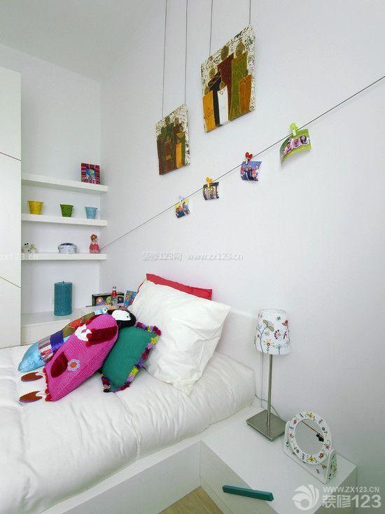 家装90后女生卧室设计白色墙面装修效果图片