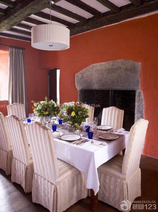最新家庭别墅餐厅背景墙设计图
