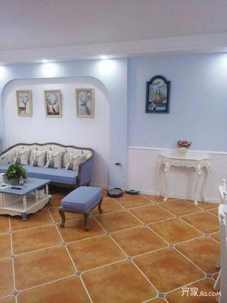 120㎡地中海风格装修沙发背景墙设计效果图