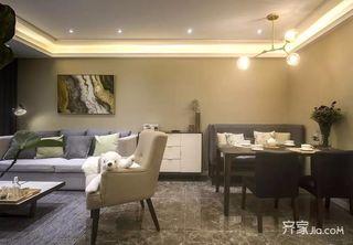 三居室现代简约风格餐厅装修设计图