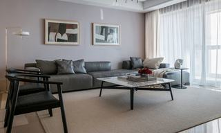 大户型现代简约风装修沙发背景墙设计图