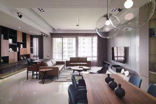 素雅现代家装公寓开放式格局装潢设计图
