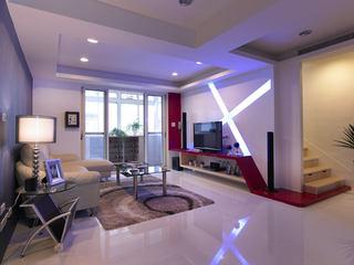 精简现代装修风格复式室内家装设计图
