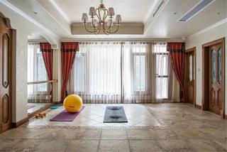 美式乡村别墅装修瑜伽房设计图