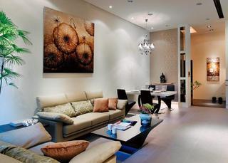 现代时尚设计装饰二居家装案例欣赏图