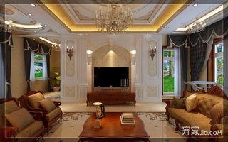 古典欧式豪华别墅装修电视背景墙造型图