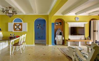 130㎡地中海风格家拱门设计