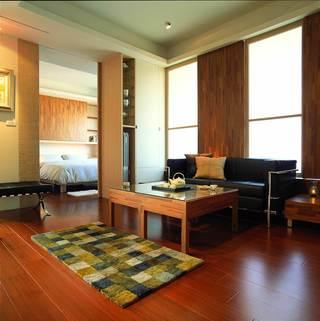 时尚现代简约风格二居室家装隔断设计图