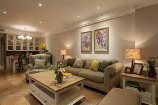 时尚小清新美式风格二居室内相片墙欣赏图片