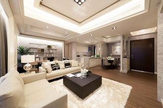 时尚精致现代简约风客餐两厅装潢设计