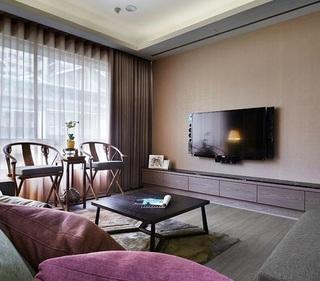 简约中式风格两室两厅设计装潢效果图