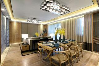 精致浪漫新中式客餐厅吊顶大全