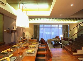 温馨浪漫东南亚装修客餐厅复式欣赏大全