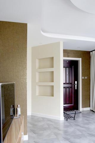 混搭二居装修墙面造型凹龛设计