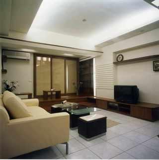 温馨现代简中式客厅带休闲榻榻米设计