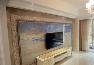 时尚现代客厅马赛克瓷砖背景墙装修图