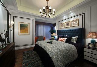 奢华时尚美式卧室背景墙装修大全