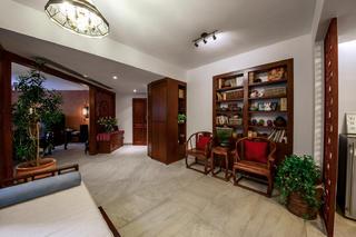 大户型中式风格装修门厅休闲区