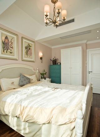 浪漫粉美式卧室房间装饰设计大全