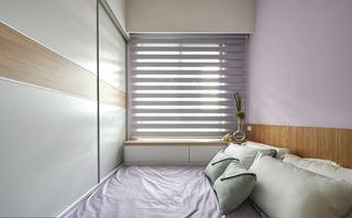 简约美式家庭小卧室百叶窗效果图