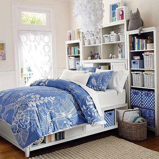 蓝色高冷女人专属卧室