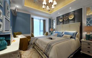 100平地中海风格装修卧室搭配图