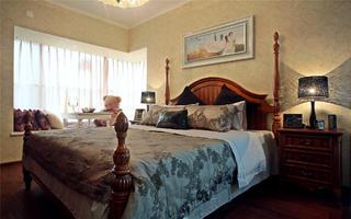 美式风二居装修卧室设计图