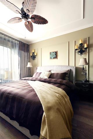 130平美式装修卧室布置图