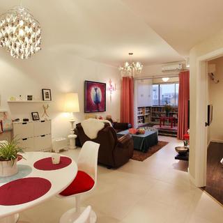 70平两居室装修客厅布置图