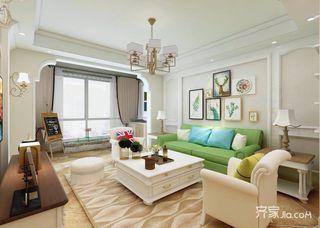 106平米混搭风格客厅装修效果图