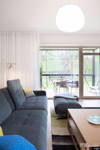 极简风格三居室装修客厅一角