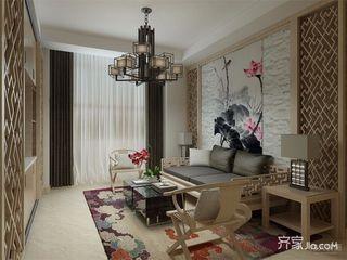 新中式风格两居客厅装修效果图