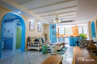 133平米地中海风格客厅装修效果图